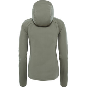 The North Face W's Inlux Softshell Hoodie Deep Lichen Green